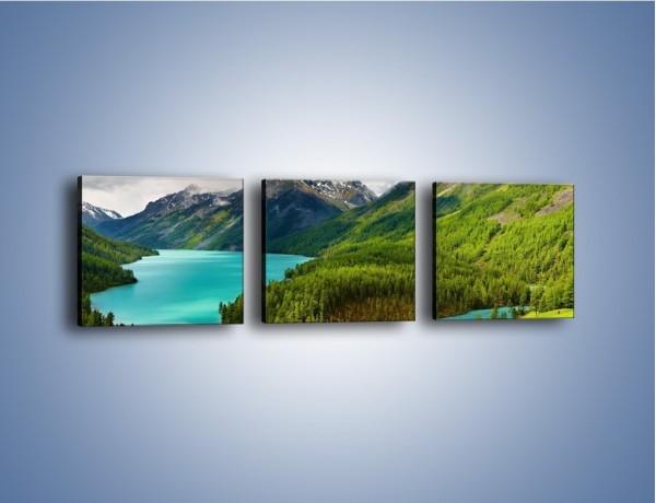 Obraz na płótnie – Górski krajobraz wiosną – trzyczęściowy KN113W1