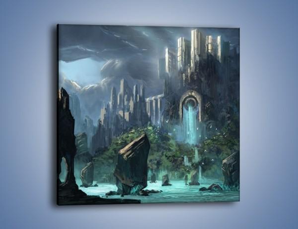 Obraz na płótnie – Zamek w totalnej ciszy – jednoczęściowy kwadratowy GR125