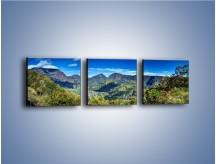 Obraz na płótnie – Cały góry pokryte zielenią – trzyczęściowy KN1140AW1