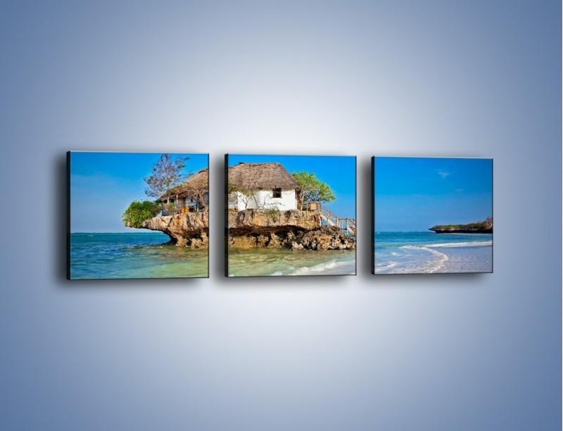 Obraz na płótnie – Dom na skarpie – trzyczęściowy KN1150AW1