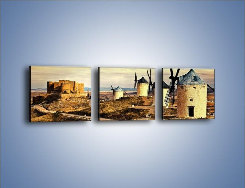 Obraz na płótnie – Młyny przy drodze do zamku – trzyczęściowy KN1154AW1