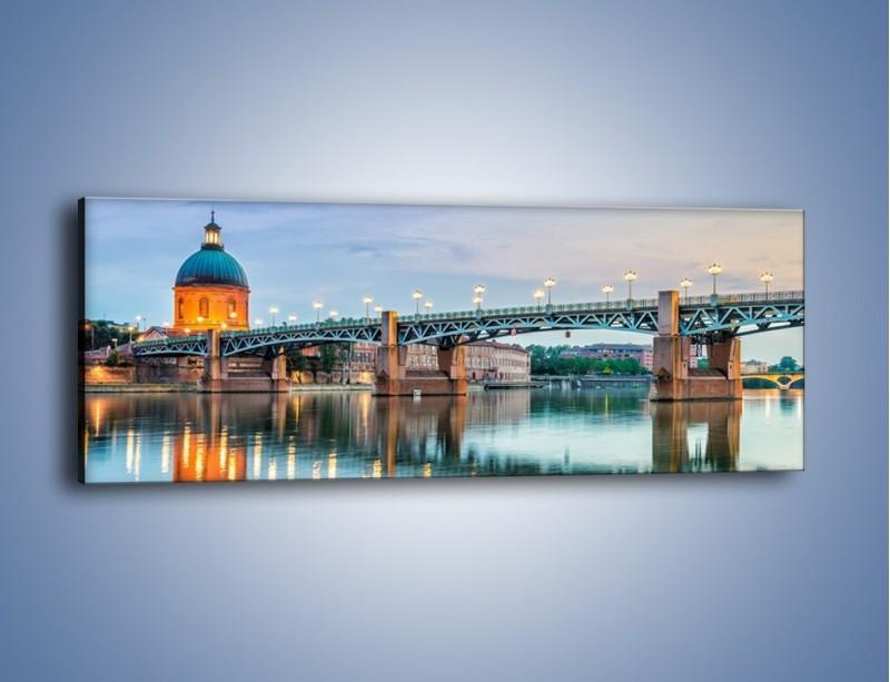 Obraz na płótnie – Most Saint-Pierre w Tuluzie – jednoczęściowy panoramiczny AM721