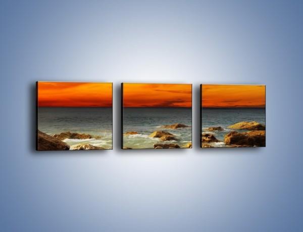 Obraz na płótnie – Pomarańcz i czerwień na niebie – trzyczęściowy KN1164AW1