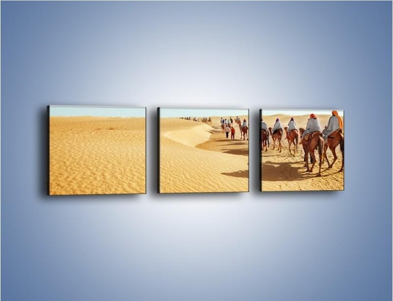 Obraz na płótnie – Szła karawana przez pustynię – trzyczęściowy KN1173AW1