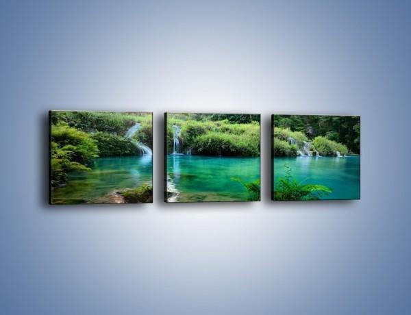 Obraz na płótnie – Kryształowo czysta woda – trzyczęściowy KN1179AW1
