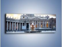 Obraz na płótnie – Bazylika św. Piotra w Watykanie – jednoczęściowy panoramiczny AM722