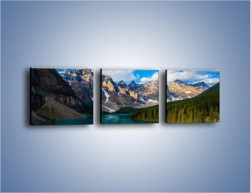 Obraz na płótnie – Spokój w górach – trzyczęściowy KN1258AW1