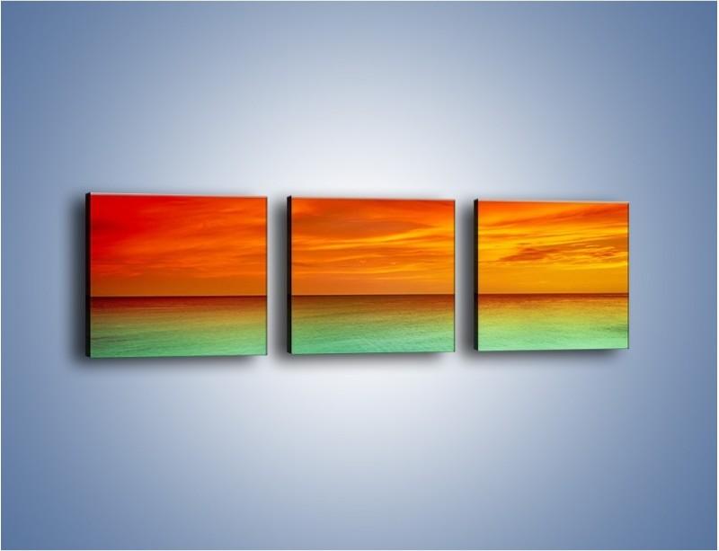 Obraz na płótnie – Horyzont w kolorach tęczy – trzyczęściowy KN1303AW1