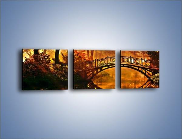 Obraz na płótnie – Cudowny spacer jesienną porą – trzyczęściowy KN1319AW1