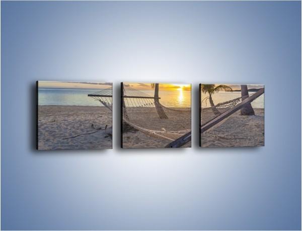Obraz na płótnie – Hamak bujany wiatrem – trzyczęściowy KN1346AW1