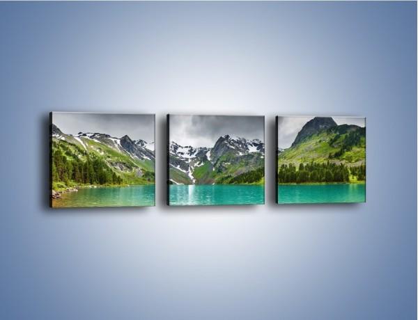 Obraz na płótnie – Góry wczesną wiosną – trzyczęściowy KN134W1