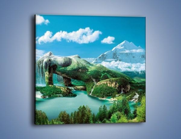 Obraz na płótnie – Przez kobietę na łono natury – jednoczęściowy kwadratowy GR134
