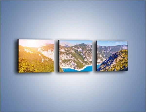 Obraz na płótnie – Góry z lotu ptaka – trzyczęściowy KN145W1
