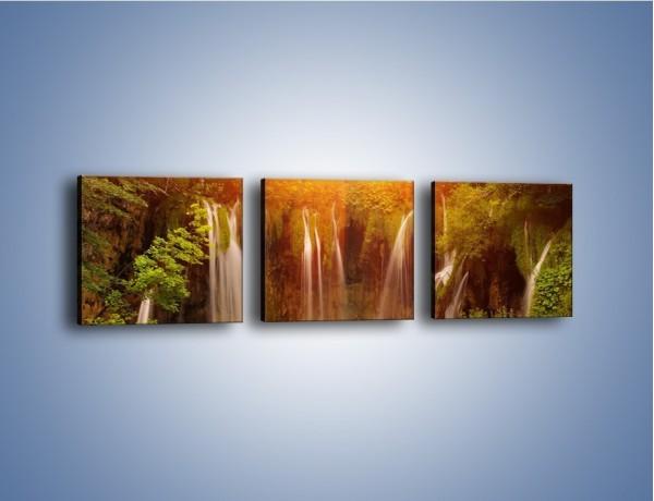 Obraz na płótnie – Fontanny z wodospadów – trzyczęściowy KN231W1