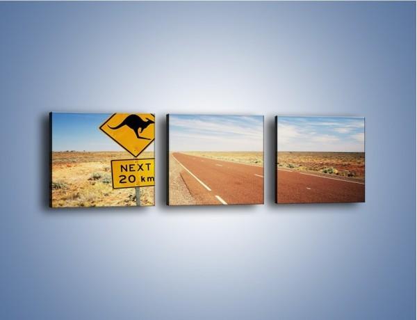 Obraz na płótnie – Droga do raju przez australię – trzyczęściowy KN315W1