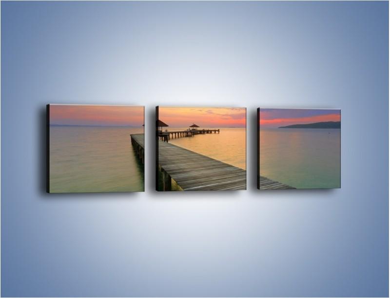 Obraz na płótnie – Krętym pomostem do morza – trzyczęściowy KN327W1