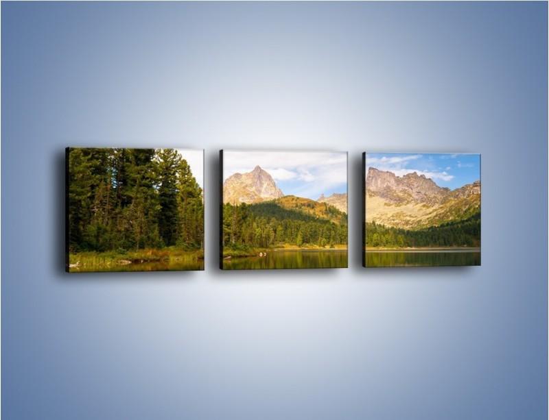 Obraz na płótnie – Widok nie tylko na góry – trzyczęściowy KN401W1