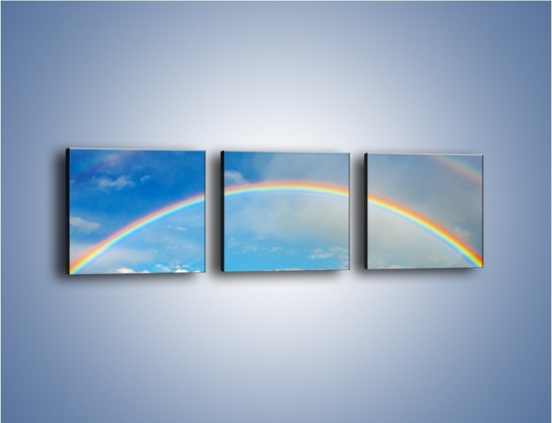 Obraz na płótnie – Urok kolorowej tęczy – trzyczęściowy KN406W1