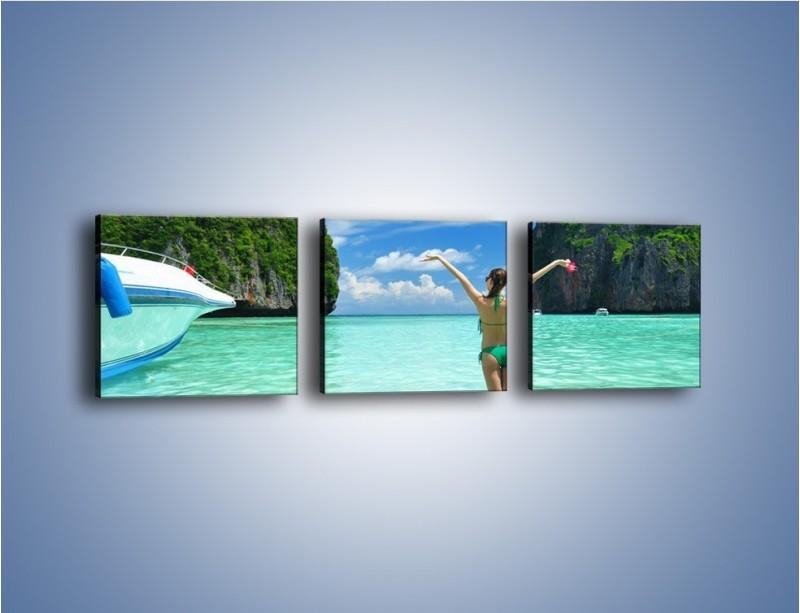 Obraz na płótnie – Udane wakacje w ciepłych krajach – trzyczęściowy KN530W1