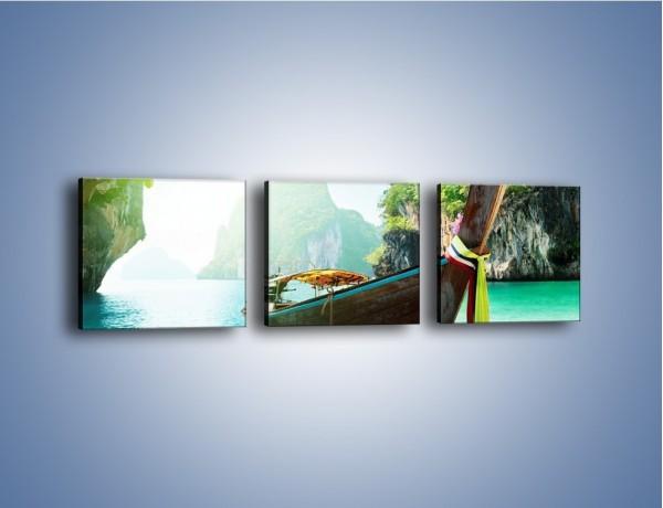 Obraz na płótnie – Wodny raj o poranku – trzyczęściowy KN573W1