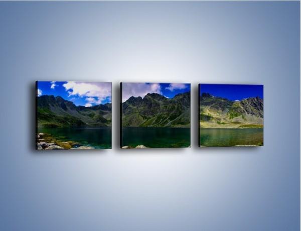 Obraz na płótnie – Horyzont górskich szczytów – trzyczęściowy KN856W1