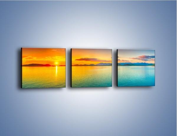 Obraz na płótnie – Tylko woda i słońce – trzyczęściowy KN871W1