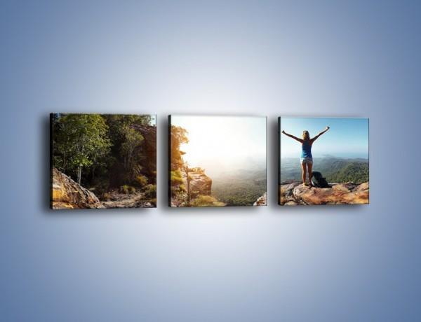 Obraz na płótnie – Wolność siła i piękno – trzyczęściowy KN902W1