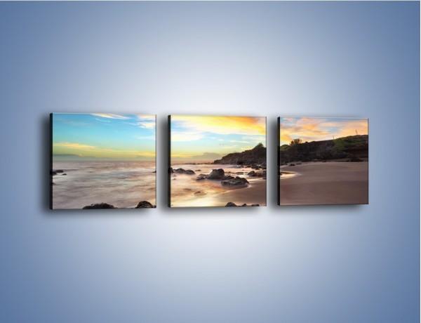 Obraz na płótnie – Pasmo kolorów na niebie – trzyczęściowy KN905W1