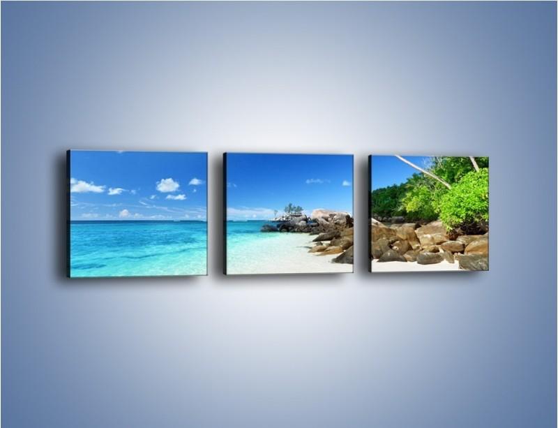 Obraz na płótnie – Rajska plaża i jej piękno – trzyczęściowy KN963W1