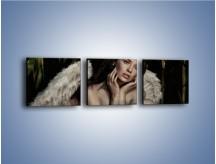 Obraz na płótnie – Anioł i jego tęsknota – trzyczęściowy L011W1
