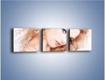 Obraz na płótnie – Kobieta i diamenty – trzyczęściowy L081W1