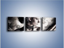 Obraz na płótnie – Czarny kobiecy charakter – trzyczęściowy L095W1