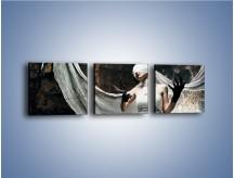 Obraz na płótnie – Dama w białych bandażach – trzyczęściowy L278W1