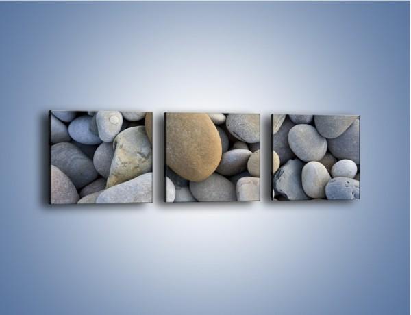 Obraz na płótnie – Kamienie duże i małe – trzyczęściowy O006W1