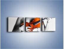 Obraz na płótnie – Muzyka grana kobiecą dłonią – trzyczęściowy O009W1