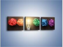 Obraz na płótnie – Ekologia w kolorze – trzyczęściowy O017W1