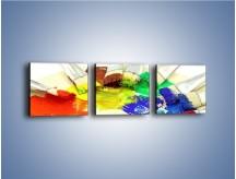 Obraz na płótnie – Kolory pędzlem malowane – trzyczęściowy O046W1