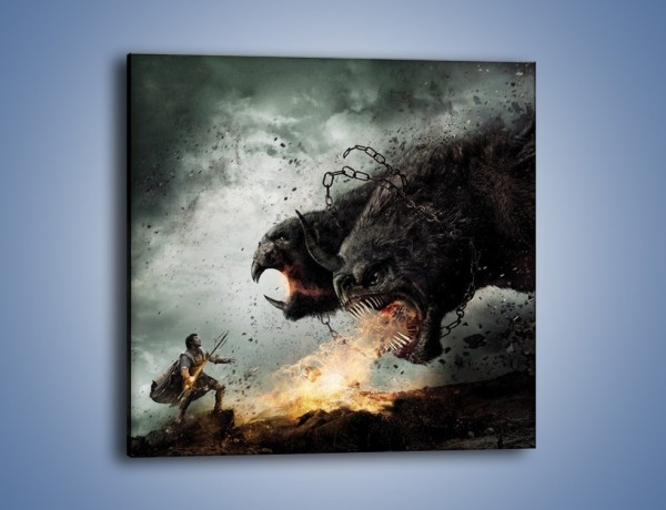 Obraz na płótnie – Groźny podmuch potworów – jednoczęściowy kwadratowy GR174