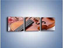 Obraz na płótnie – Miłość wyznana muzyką – trzyczęściowy O098W1