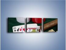 Obraz na płótnie – Męski świat hazardu – trzyczęściowy O121W1