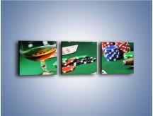 Obraz na płótnie – Mocne wrażenia w kasynie – trzyczęściowy O122W1