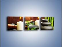Obraz na płótnie – Masaż przy świecach – trzyczęściowy O176W1