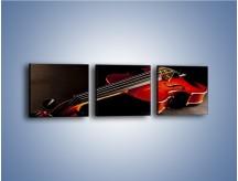 Obraz na płótnie – Mocne brzmienia na gitarze – trzyczęściowy O205W1