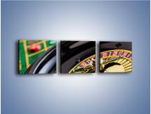 Obraz na płótnie – Czas drogocenny w kasynie – trzyczęściowy O238W1