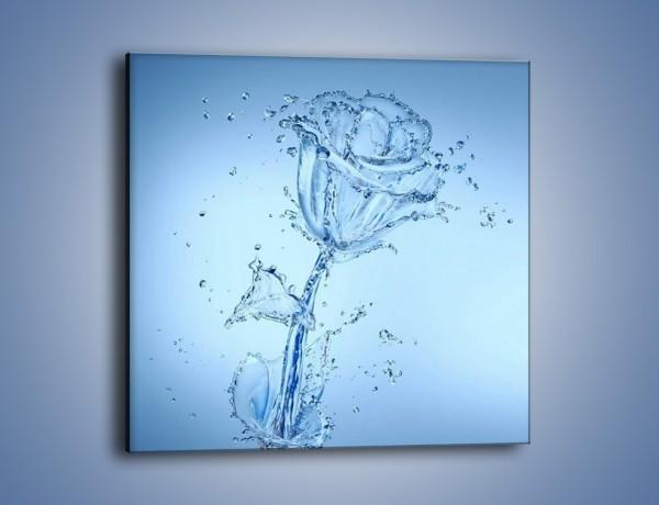 Obraz na płótnie – Kwiat tworzony wodą – jednoczęściowy kwadratowy GR182