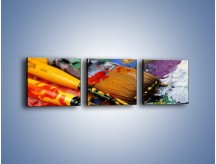 Obraz na płótnie – Kolory ze sobą zmieszane – trzyczęściowy O251W1