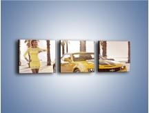 Obraz na płótnie – Chevrolet Camaro Coupe Europe – trzyczęściowy TM083W1