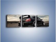 Obraz na płótnie – Czarne Subaru Impreza WRX Sti – trzyczęściowy TM133W1