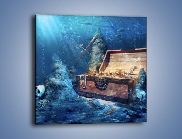 Obraz na płótnie – Zatopione skarby – jednoczęściowy kwadratowy GR205