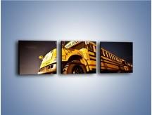 Obraz na płótnie – Amerykański School Bus – trzyczęściowy TM146W1